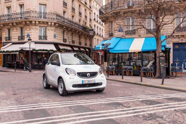 auto elettriche car sharing car2go parigi